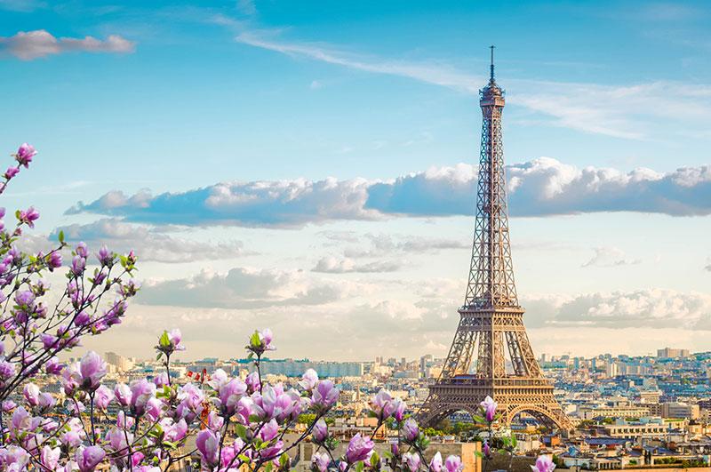 Eiffeltour und Pariser Stadtbild