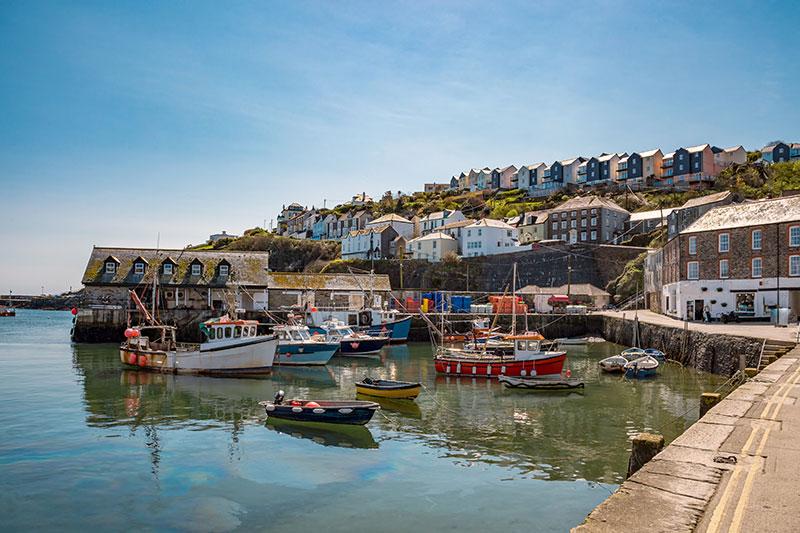 Hafen mit Fischerbooten, UK
